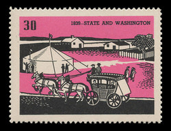 Chicagoland Poster Stamps of  1938 - # 30 State and Washington, 1839