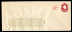 U.S. Scott # U 538c, 1958 2c (U533c) + 2c Washington, Die 4 - Mint Envelope, UPSS Size 21-WINDOW