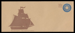 U.S. Scott # U 571 1975 10c Seafaring Tradition - Compass - Mint Envelope, UPSS Size 23