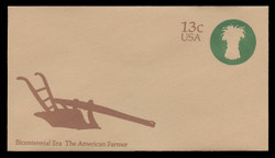 U.S. Scott # U 573 1976 13c American Farmer - Sheaf of Wheat - Mint Envelope, UPSS Size 12