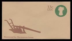 U.S. Scott # U 573 1976 13c American Farmer - Sheaf of Wheat - Mint Envelope, UPSS Size 12