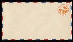 U.S. Scott # UC  4 1942 6c Plane, Orange Background, Die 2b, with Border - Mint Envelope, UPSS Size 13
