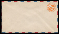 U.S. Scott # UC  6 1942 6c Plane, Orange Background, Die 3, with Border - Mint Envelope, UPSS Size 13