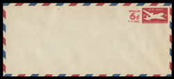 U.S. Scott # UC 22 1952 6c (Solid) on 5c (UC15) DC-4 Skymaster, Die 2 - Mint Envelope, UPSS Size 23