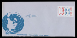 U.S. Scott # UC 48 1974 18c U.S.A. Outline & Globe - Mint Air Letter Sheet