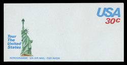 U.S. Scott # UC 54 1981 30c U.S.A., Green Statue of Liberty - Mint Air Letter Sheet