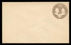 U.S. Scott # U 350A, 1893 5c Columbian, chocolate on white, Die 1(A) - Mint Envelope, UPSS Size  9