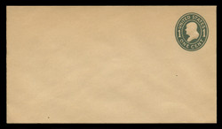 U.S. Scott # U 404, 1907-16 1c Franklin, green on manila, Die 1 - Mint Envelope, UPSS Size 10
