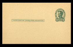 U.S. Scott # UX  28/UPSS # S40-2CA, 1917 1c Abraham Lincoln, Head 2, green on canary - Mint Postal Card (See Warranty)