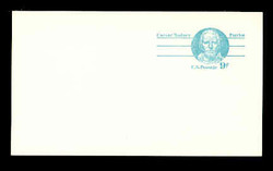U.S. Scott # UX  70CFM, 1976 9c Caesar Rodney - Patriot Series - Mint Postal Card, COARSE, FLUORESCENT (Medium Bright) PAPER (See Warranty)