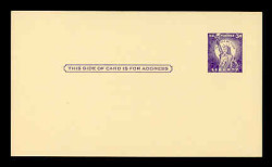 U.S. Scott # UX  46/UPSS #S63 Type 1, 1958 3c Statue of Liberty - Mint Postal Card (See Warranty)