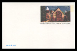 U.S. Scott # UX 263FM, 1996 20c Alexander Hall, Princeton University - Mint Postal Card, FLUORESCENT (Medium Bright) PAPER (See Warranty)