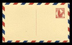 U.S. Scott # UXC  3/UPSS #SA3c2 1958 5c Eagle, red on buff, with red & blue border, THINNED Line at Bottom - Mint Postal Card (See Warranty)