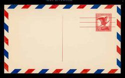U.S. Scott # UXC  4FM/UPSS #SA4bFM 1963 6c Eagle, red on buff, Precancelled - Mint Postal Card, FLUORESCENT (Medium Bright) PAPER (See Warranty)