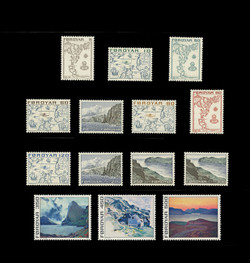 FAROE ISLANDS Scott #   7-20, 1975 Maps & Scenes of the Faroe Islands (Set of 14)