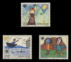 FAROE ISLANDS Scott #  45-7, 1979 International Year of the Child (Set of 3)