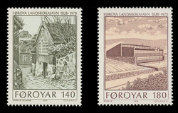 FAROE ISLANDS Scott #  39-40, 1978 Completion of the New Library Building (Set of 2)