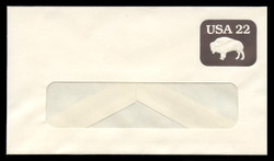 U.S. Scott # U 608/12-WINDOW, UPSS #3695/48A 1985 22c American Bison - Mint (See Warranty)