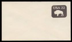 U.S. Scott # U 608b/12, UPSS #3698/49A 1985 22c American Bison, Tagged - Mint (See Warranty)