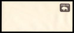 U.S. Scott # U 608b/23, UPSS #3700/48A 1985 22c American Bison, Tagged - Mint (See Warranty)