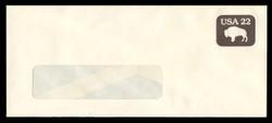 U.S. Scott # U 608b/23-TALL WINDOW, UPSS #3702/48A 1985 22c American Bison, Tagged - Mint (See Warranty)