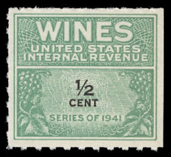U.S. Scott #RE110, 1942 1/2c Wine Stamp