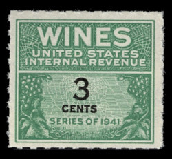 U.S. Scott #RE113, 1942 3c Wine Stamp