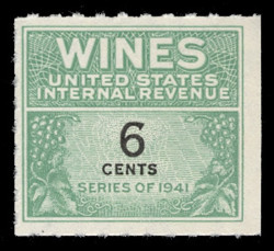 U.S. Scott #RE118, 1942 6c Wine Stamp