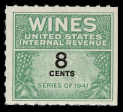 U.S. Scott #RE121, 1942 8c Wine Stamp