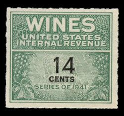 U.S. Scott #RE126, 1942 14c Wine Stamp