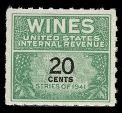 U.S. Scott #RE130, 1942 20c Wine Stamp