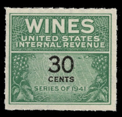 U.S. Scott #RE133, 1942 30c Wine Stamp