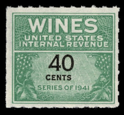 U.S. Scott #RE136, 1942 40c Wine Stamp