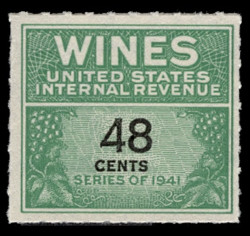 U.S. Scott #RE138, 1942 48c Wine Stamp