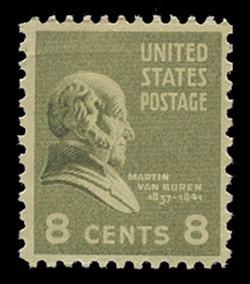 U.S. Scott # 813, 1938 8c Martin Van Buren