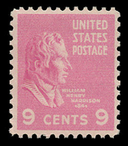 U.S. Scott # 814, 1938 9c William Henry Harrison