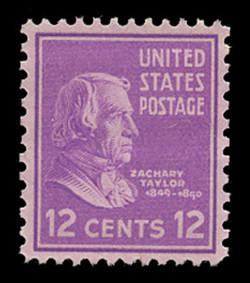 U.S. Scott # 817, 1938 12c Zachary Taylor