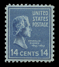 U.S. Scott # 819, 1938 14c Franklin Pierce