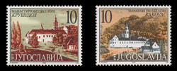 YUGOSLAVIA Scott # 2475-6, 2000 Krusedol & Rakovac Monasteries (Set of 2)