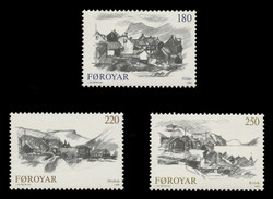 FAROE ISLANDS Scott #  83-5, 1982 Views of Faroe Towns (Set of 3)