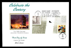 U.S. Scott #3186 33c CTC - United Nations Press Sheet First Day Cover.  Steve Levine/Colorano cachet, Vertical Gutter