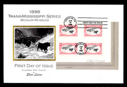 U.S. Scott #3210 Trans-Mississippi Reprints, Press Sheet First Day Cover.  Steve Levine/Colorano cachet,  Plate # Block of 4 (See Warranty)