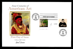 U.S. Scott #3236 American Art, Press Sheet First Day Covers.  Steve Levine/Colorano cachet, SET of 4 PAIRS with Vertical Gutters