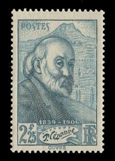 FRANCE Scott #  370, 1939 Paul Cezanne, painter, 100th Anniversary