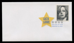 U.S. Scott #3943, 2005 37c Greta Garbo First Day Cover.  Digital Colorized Postmark
