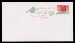 U.S. Scott #4270, 2008 42c Love - All Heart First Day Cover.  Digital Colorized Postmark