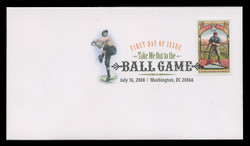 U.S. Scott #4341, 2008 42c Take Me Out to the Ball Game First Day Cover.  Digital Colorized Postmark