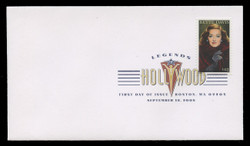U.S. Scott #4350, 2008 42c Legends of Hollywood - Bette Davis First Day Cover.  Digital Colorized Postmark