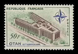 FRANCE Scott #  937, 1959 NATO Headquarters, Paris