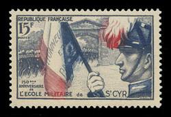 FRANCE Scott #  731, 1954 Military School of Saint-Cyr, 150th Anniversary